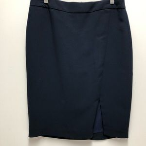 NWT Talbots Dark Navy Side Front Slit Skirt